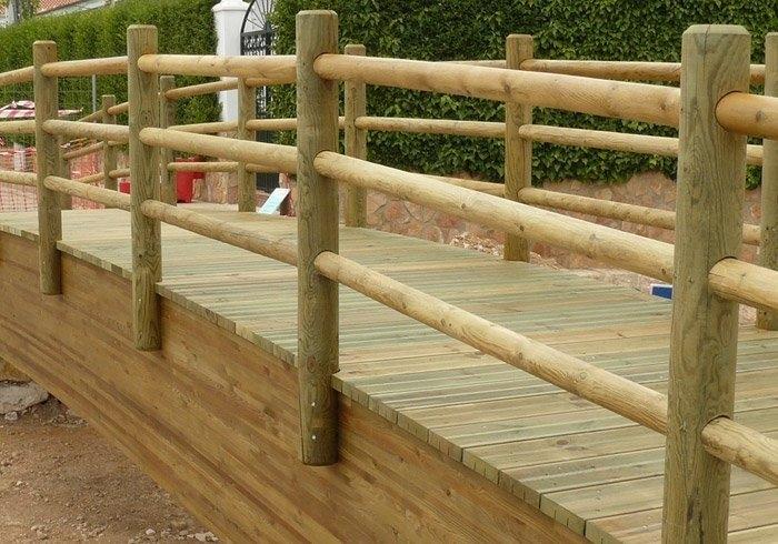 Postes y vallas con tratamiento autoclave maderas casais - Postes de madera para pergolas ...