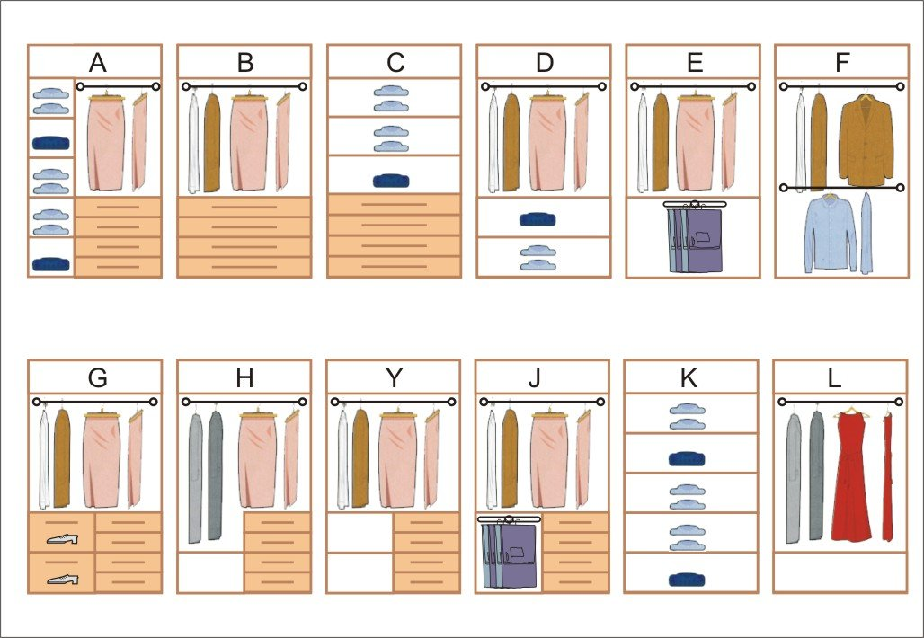 C mo construir un armario perfecto maderas casais - Armarios empotrados interiores ...