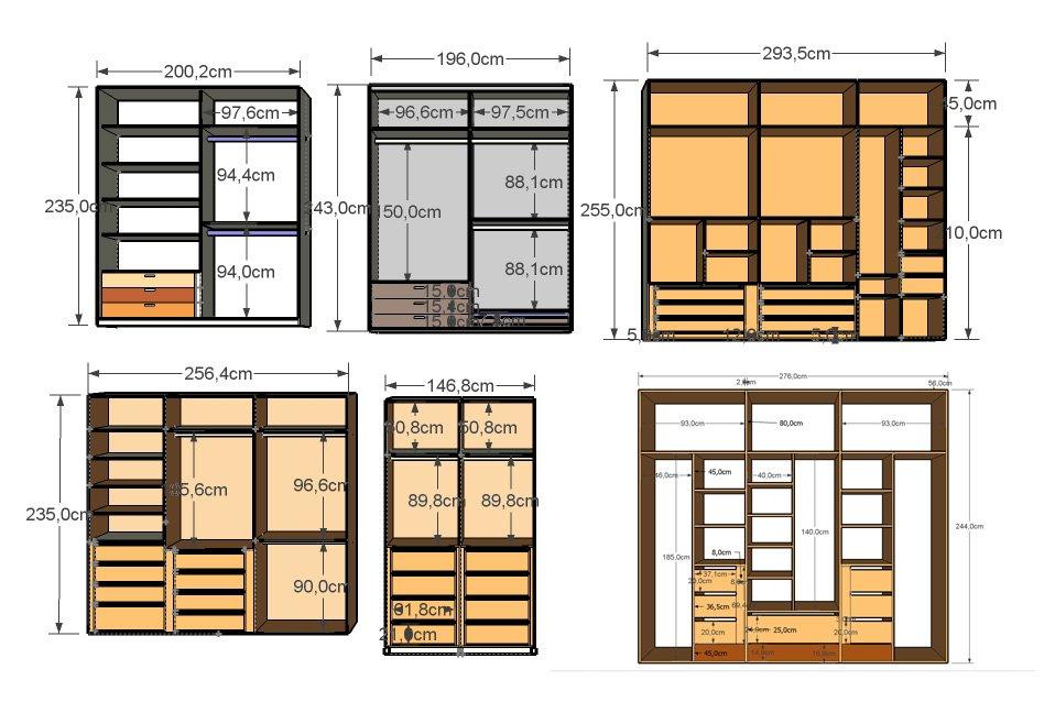 Armarios modulares maderas casais materiales de - Diseno de armarios a medida ...