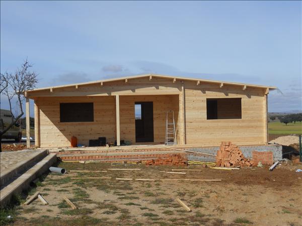 Casas modulares de madera maderas casais materiales de - Casa de madera galicia ...