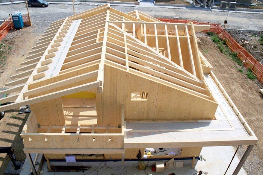 Casas modulares de madera maderas casais materiales de carpinter a en a coru a galicia - Alzare il tetto di casa ...