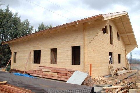 Casas de madera estructuras maderas casais materiales - Estructuras casas de madera ...