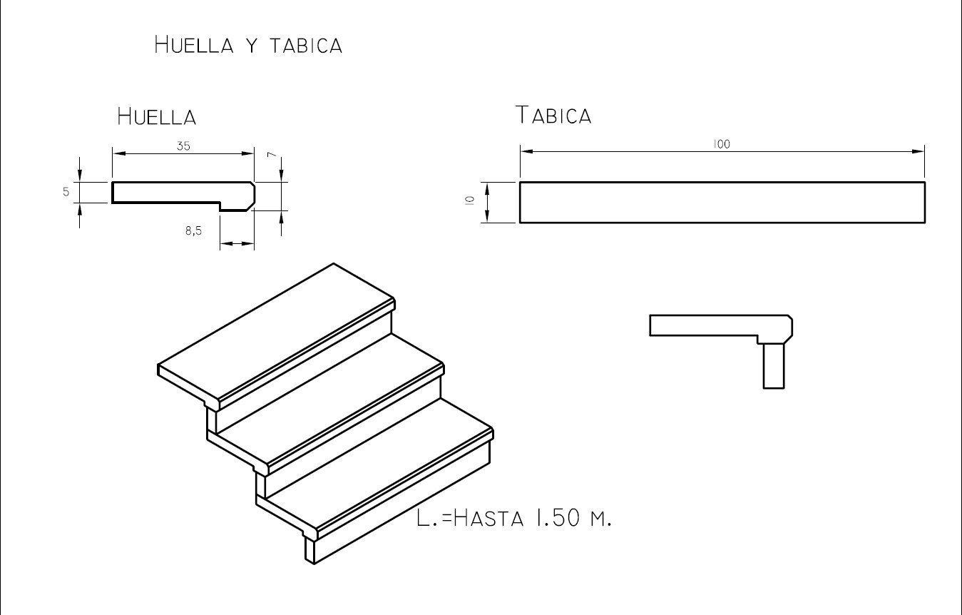 Escaleras pelda os y tabicas maderas casais materiales for Que es una escalera