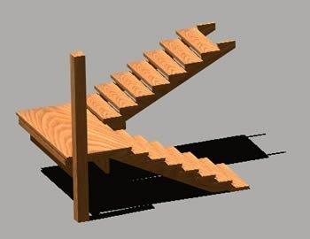 Escaleras pelda os y tabicas maderas casais materiales for Modelos de gradas de madera