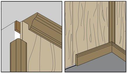 remates molduras de madera para pared