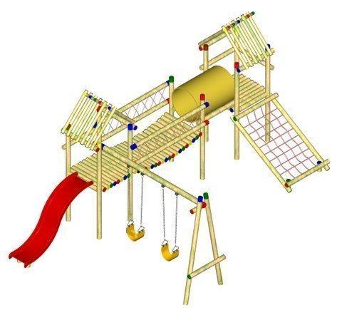 Parques infantiles maderas casais materiales de - Como hacer un parque infantil ...