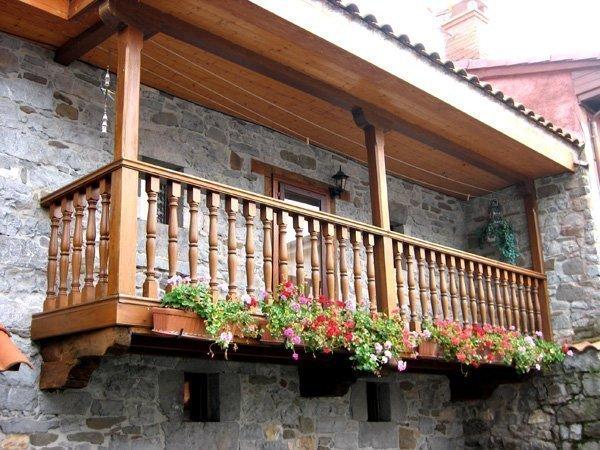 Pasamanos exterior maderas casais materiales de Balcones madera exterior