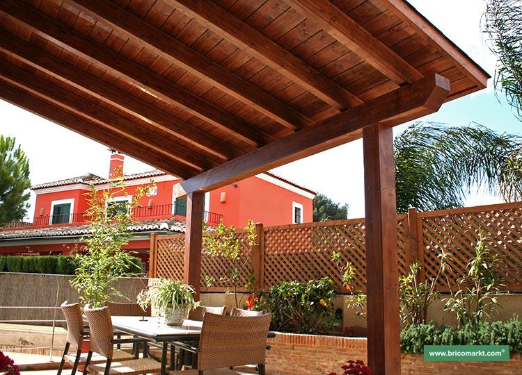 Vigas porches maderas casais materiales de carpinter a - Casas con porches de madera ...